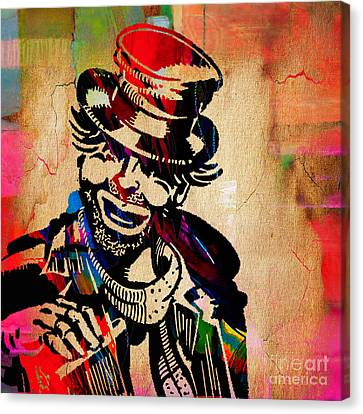 Red Skelton Collection Canvas Print by Marvin Blaine