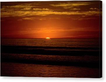 Red Sunset Canvas Print by Terry Thomas