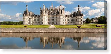 Reflection Of A Castle In A River Canvas Print by Panoramic Images