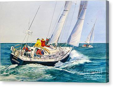 Regatta Bound Canvas Print by Karol Wyckoff