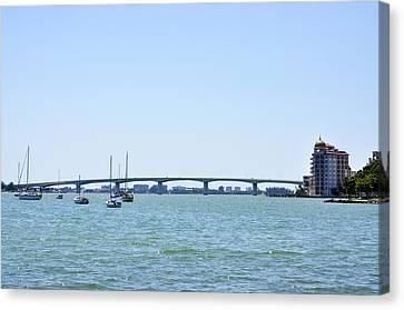 Ringling Bridge Afternoon Sarasota Florida Canvas Print by Sally Rockefeller