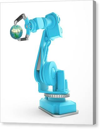 Robotic Equipment Canvas Print by Andrzej Wojcicki