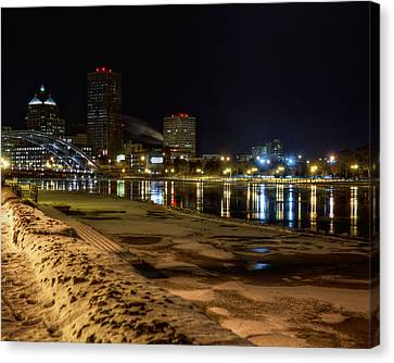Rochester At Night Canvas Print by Tim Buisman