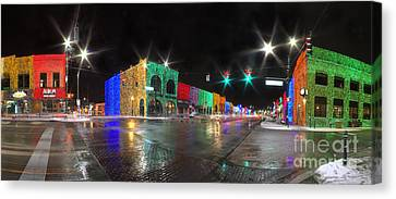 Rochester Michigan Christmas Lights Canvas Print by Twenty Two North Photography