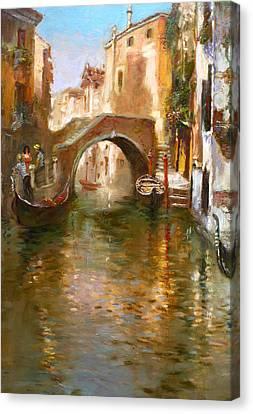 Romance In Venice  Canvas Print by Ylli Haruni