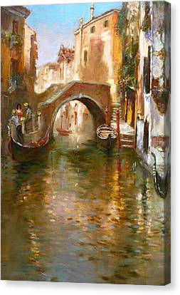 Romance In Venice  Canvas Print by Ylli Haruni
