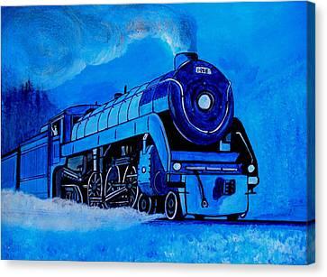 Royal Blue Express Canvas Print by Pjohn Artman