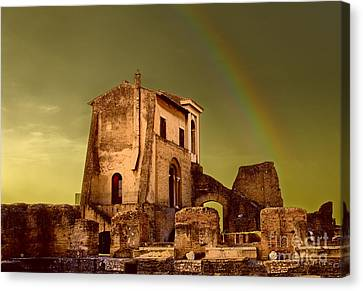 Ruin At Palatine Hill Canvas Print by Julian Cook