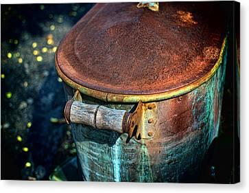 Rusty Bucket Canvas Print by Berkehaus Photography
