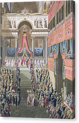 Sacred Festival And Coronation Canvas Print by Louis Le Coeur