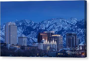 Salt Lake City Canvas Print by Brian Jannsen