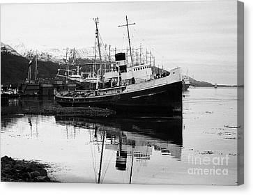 san cristobal saint christopher tugboat wreck in Ushuaia Argentina Canvas Print by Joe Fox