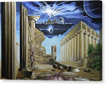 Sands Of Time Canvas Print by Max CALLENDER