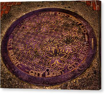 Seattle Manhole Cover Canvas Print by David Patterson