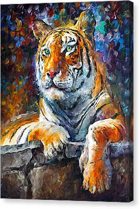 Siberian Tiger Canvas Print by Leonid Afremov