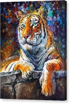 Siberian Tiger Canvas Print by Leonid Afremov