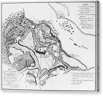 Siege Of Yorktown, 1781 Canvas Print by Granger