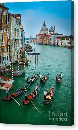 Six Gondolas Canvas Print by Inge Johnsson