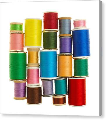 Spools Of Thread Canvas Print by Jim Hughes