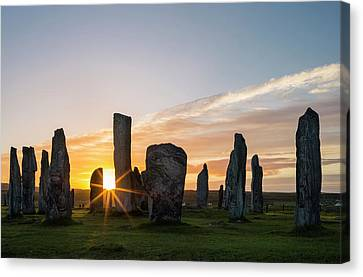 Standing Stones Of Callanish Canvas Print by Martin Zwick