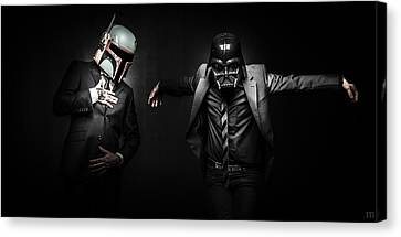 Starwars Suitup Canvas Print by Marino Flovent