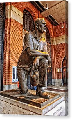 Statue Of General Robert Neyland - University Of Tennessee Canvas Print by Mountain Dreams