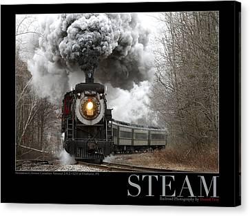Steam At Elmhurst Canvas Print by Daniel Troy