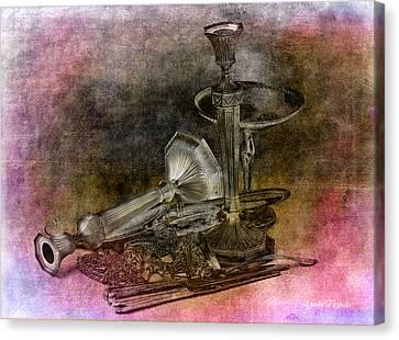 Sterling Silver Scrap Canvas Print by Gunter Nezhoda