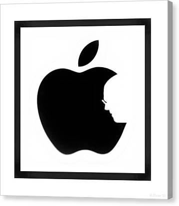 Steve Jobs Apple Canvas Print by Rob Hans