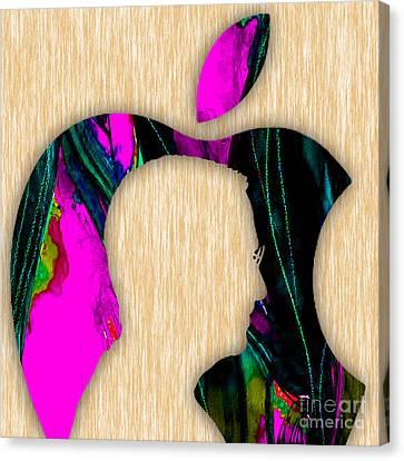 Steve Jobs Art Canvas Print by Marvin Blaine