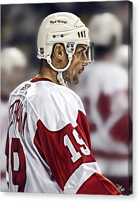 Steve Yzerman Canvas Print by Don Olea