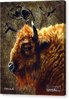 Stonebull Canvas Print by Will Bullas
