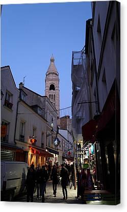 Street Scenes - Paris France - 01131 Canvas Print by DC Photographer