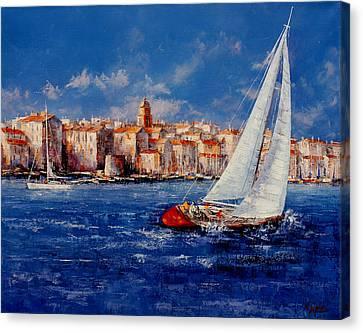 St.tropez - France Canvas Print by Miroslav Stojkovic - Miro