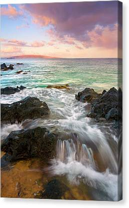 Sunrise Surge Canvas Print by Mike  Dawson