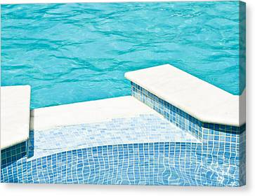 Swimming Pool Canvas Print by Tom Gowanlock