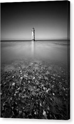 Talacre Lighthouse Canvas Print by Dave Bowman
