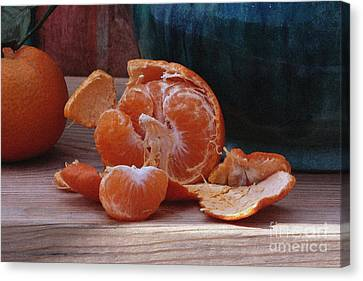 Tangerines Canvas Print by Luv Photography