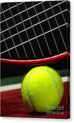 Tennis Ball Canvas Print by Olivier Le Queinec