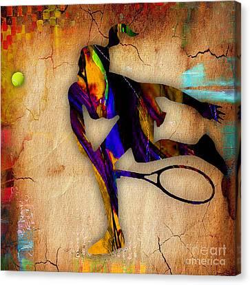 Tennis Match Canvas Print by Marvin Blaine