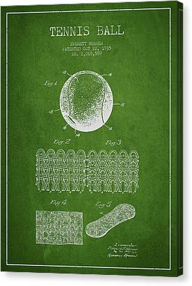 Tennnis Ball Patent Drawing From 1935 Canvas Print by Aged Pixel