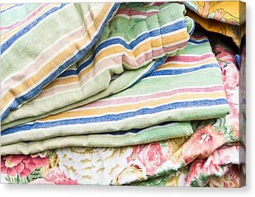 Textiles Sale Canvas Print by Tom Gowanlock