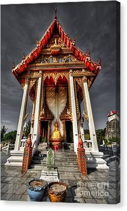 Thai Temple Canvas Print by Adrian Evans