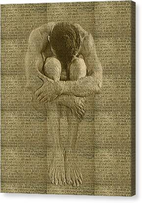 The Artist Canvas Print by Kurt Van Wagner