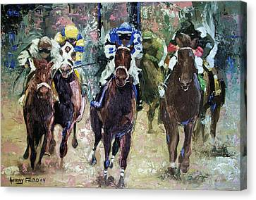 The Bets Are On Canvas Print by Anthony Falbo
