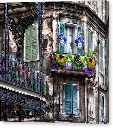 The French Quarter During Mardi Gras Canvas Print by Mountain Dreams