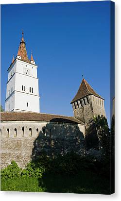 The German Fortified Church Of Harman Canvas Print by Martin Zwick
