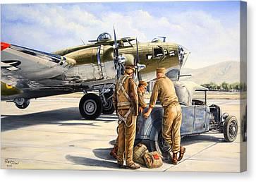The Gunners Canvas Print by Ruben Duran