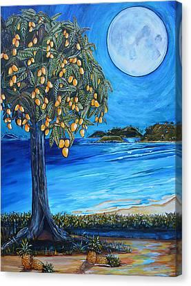 The Mango Tree Canvas Print by Patti Schermerhorn