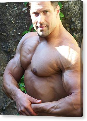 The Muscle Poser Canvas Print by Jake Hartz